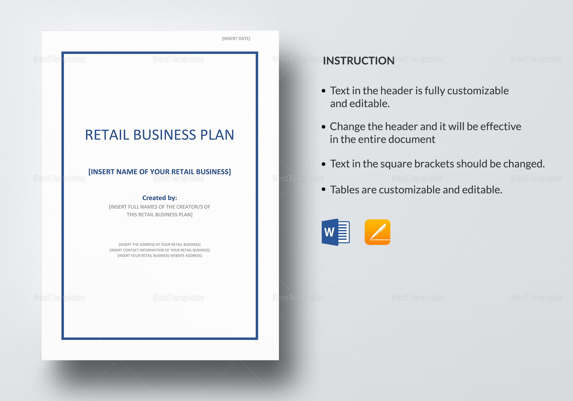 Retail store business plan docs