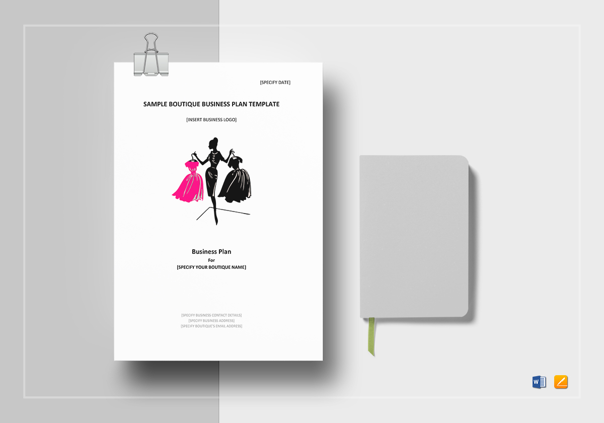 Sample boutique business plan template in word google docs apple pages accmission Choice Image