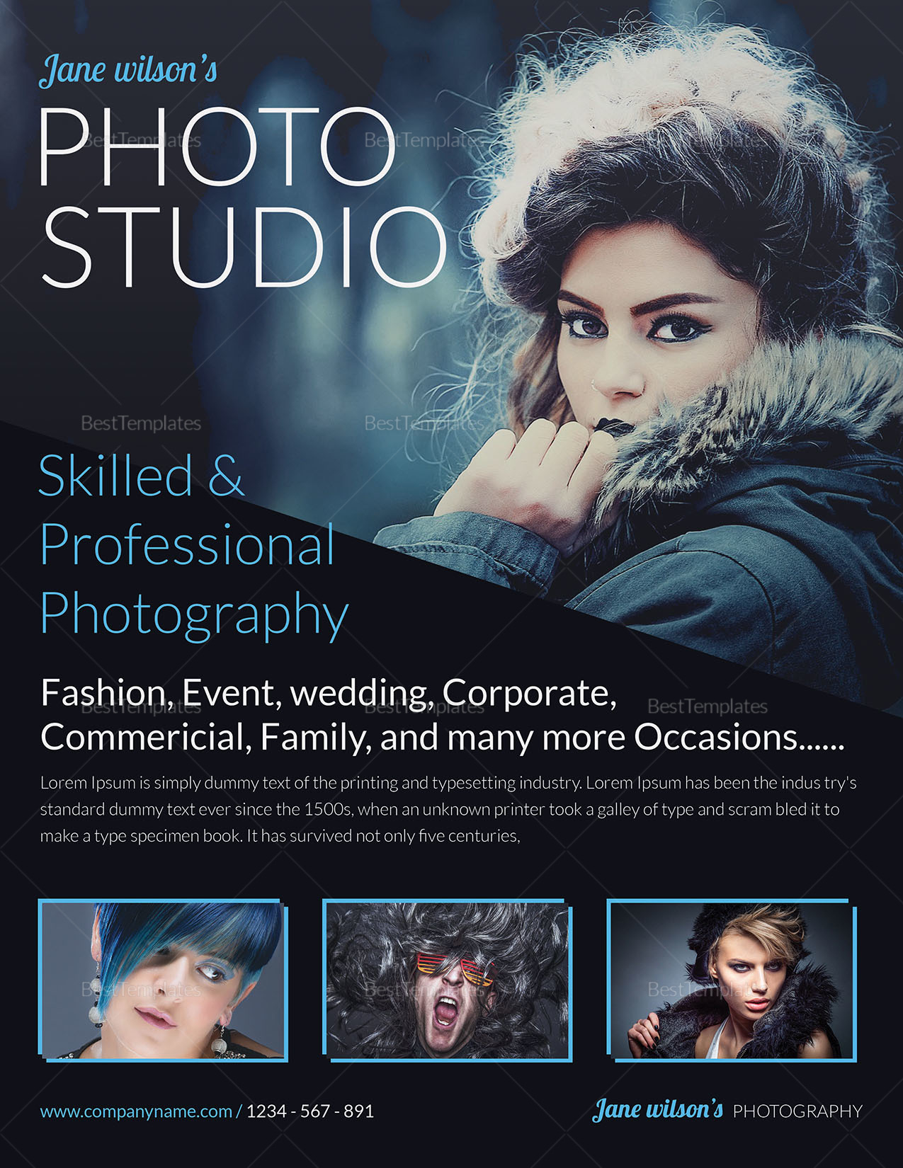 Beautiful Creative Photography Flyer to Print