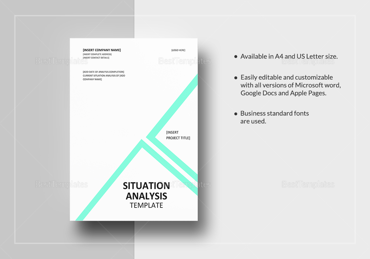 situational analysis What is a situational analysis why would you prepare one in this lesson, we'll discuss what a situational analysis is, what it does, and how to.