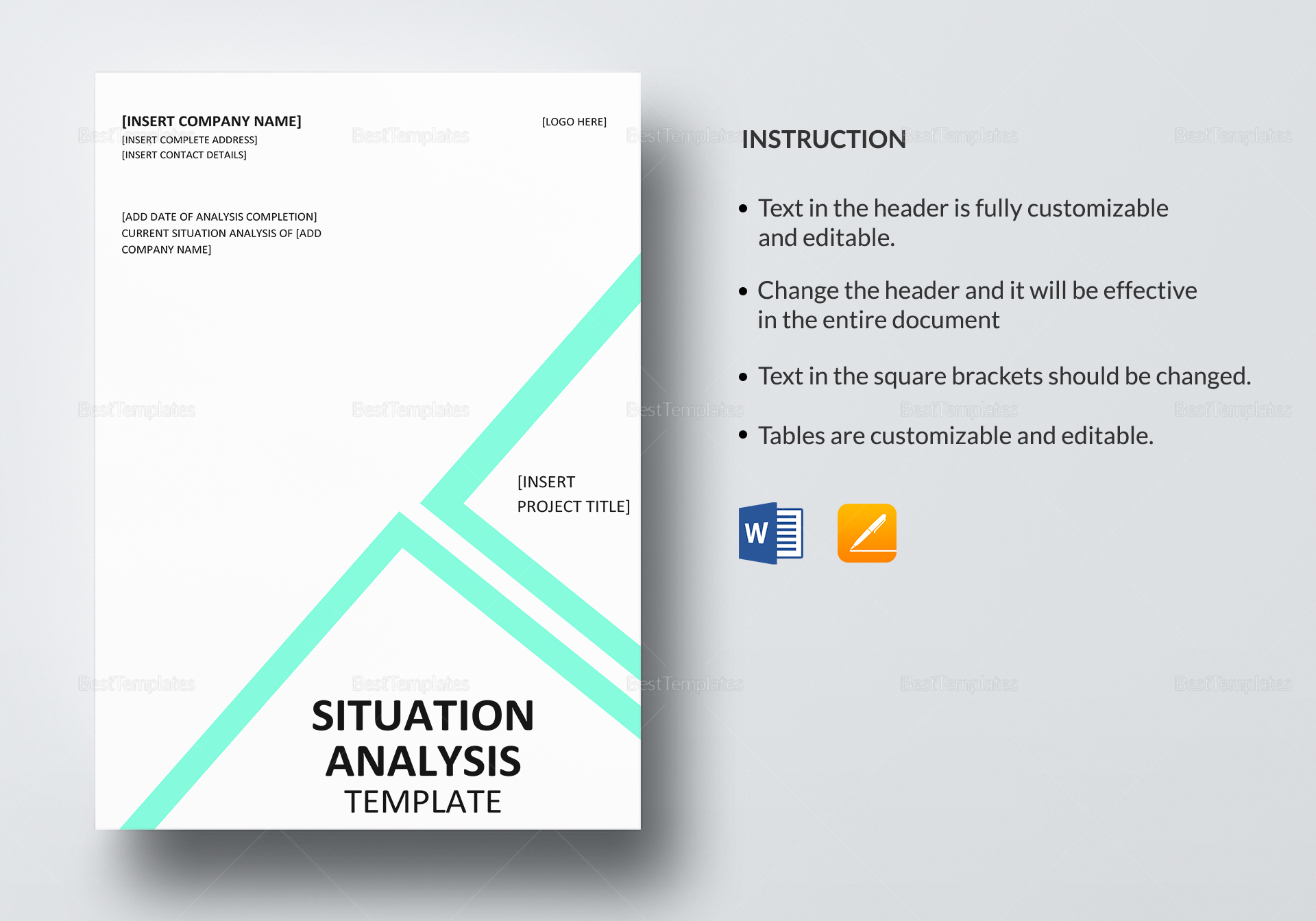 Situational Analysis Template Funky Situation Analysis Template