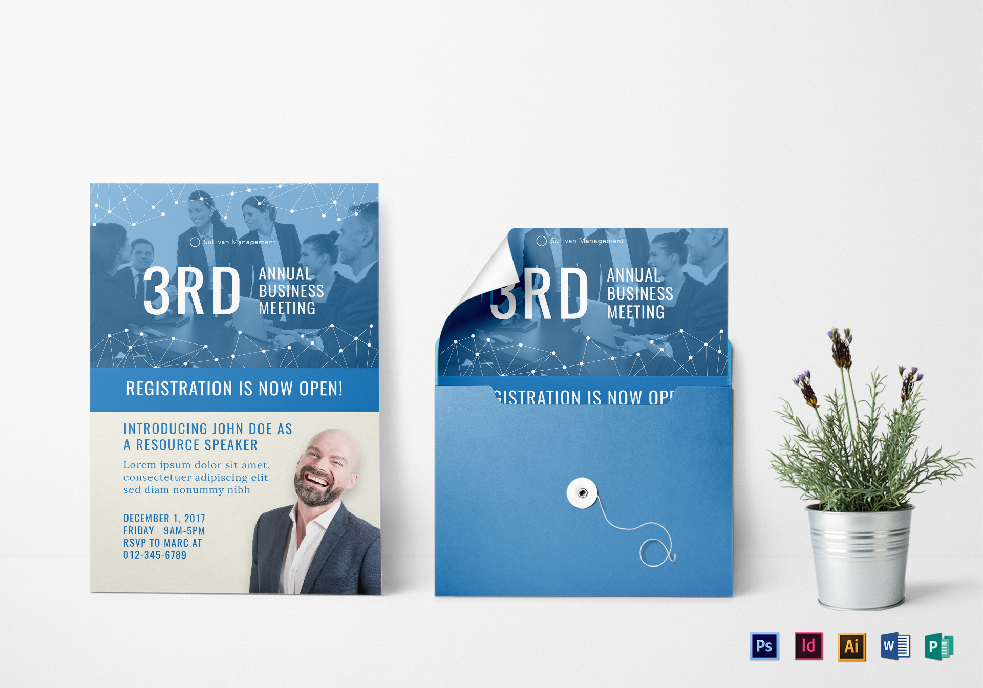 Annual business meeting invitation design template in psd word annual business meeting invitation template fbccfo Gallery