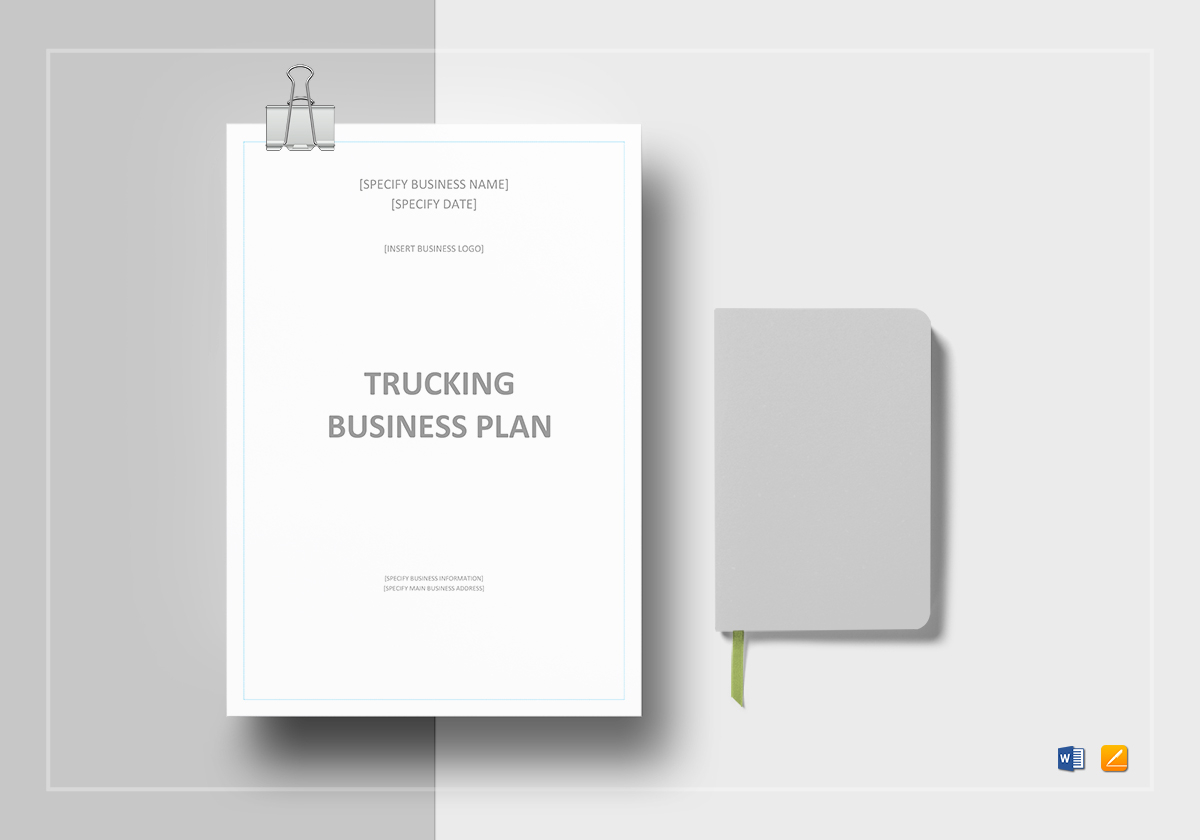 Trucking business plan template in word google docs apple pages trucking business plan template fbccfo Choice Image