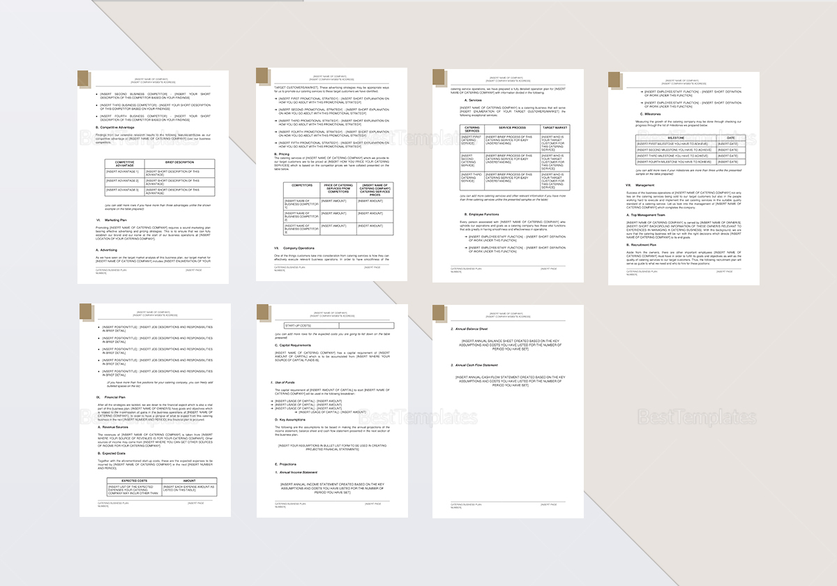 Catering Business Plan Template In Word Google Docs Apple Pages - Catering business plan template