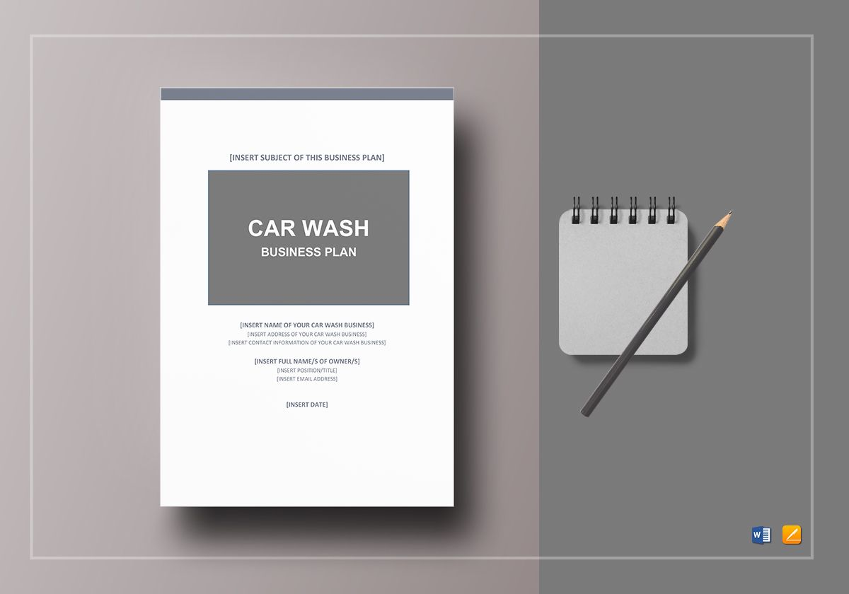 Car wash business plan template in word google docs apple pages car wash business plan wajeb Image collections