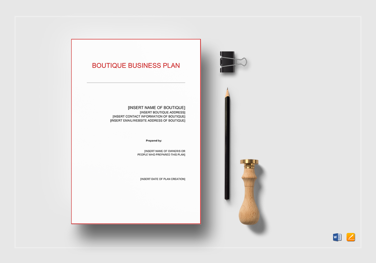 Boutique Business Plan Template In Word Google Docs Apple Pages