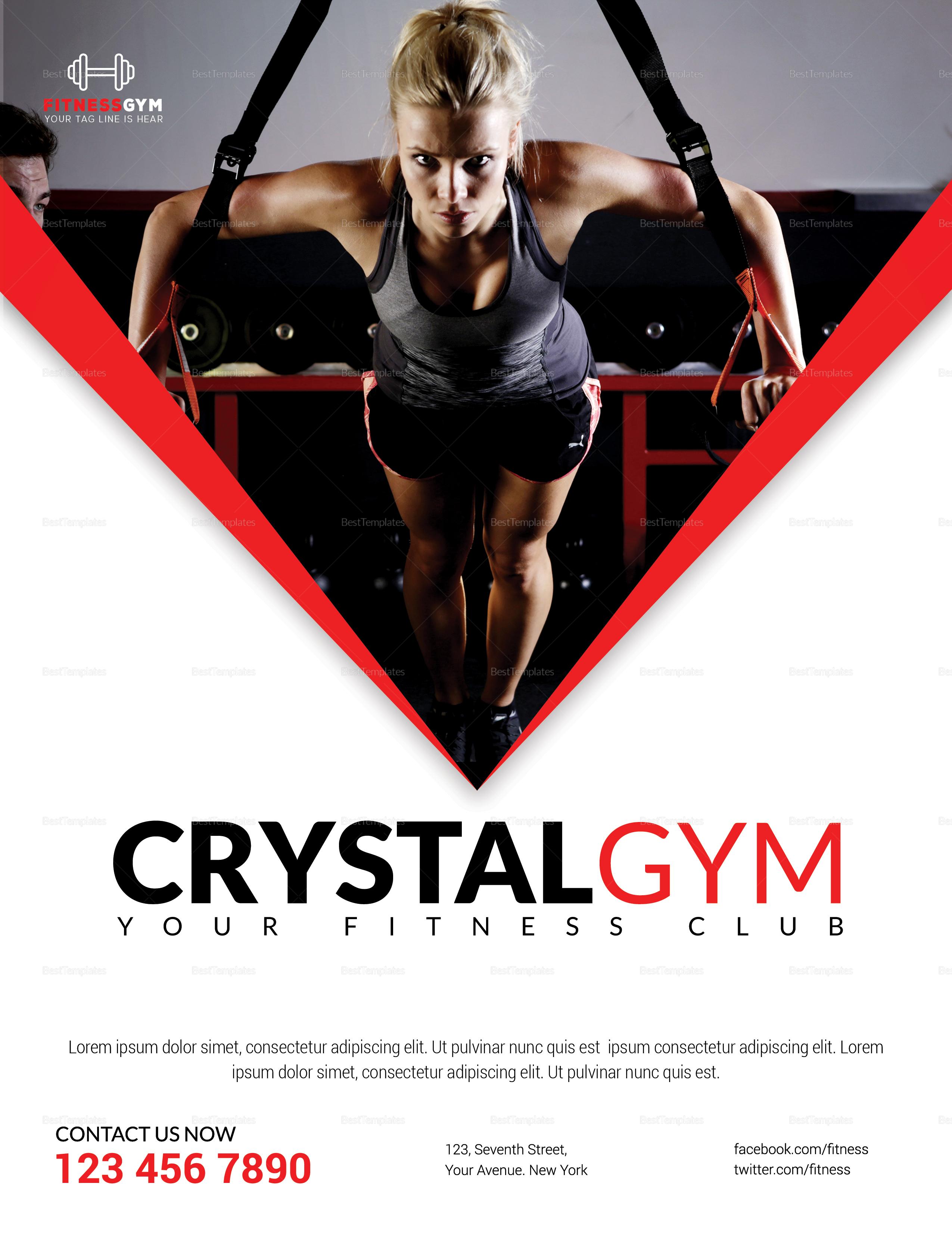 Creystal Gym Flyer Template