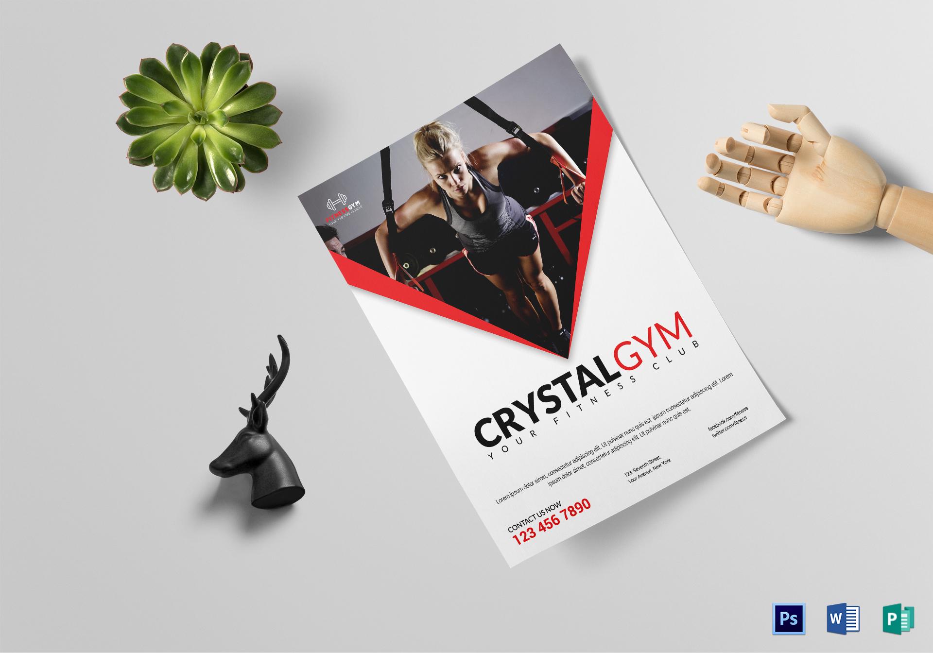 Creystal Gym Flyer