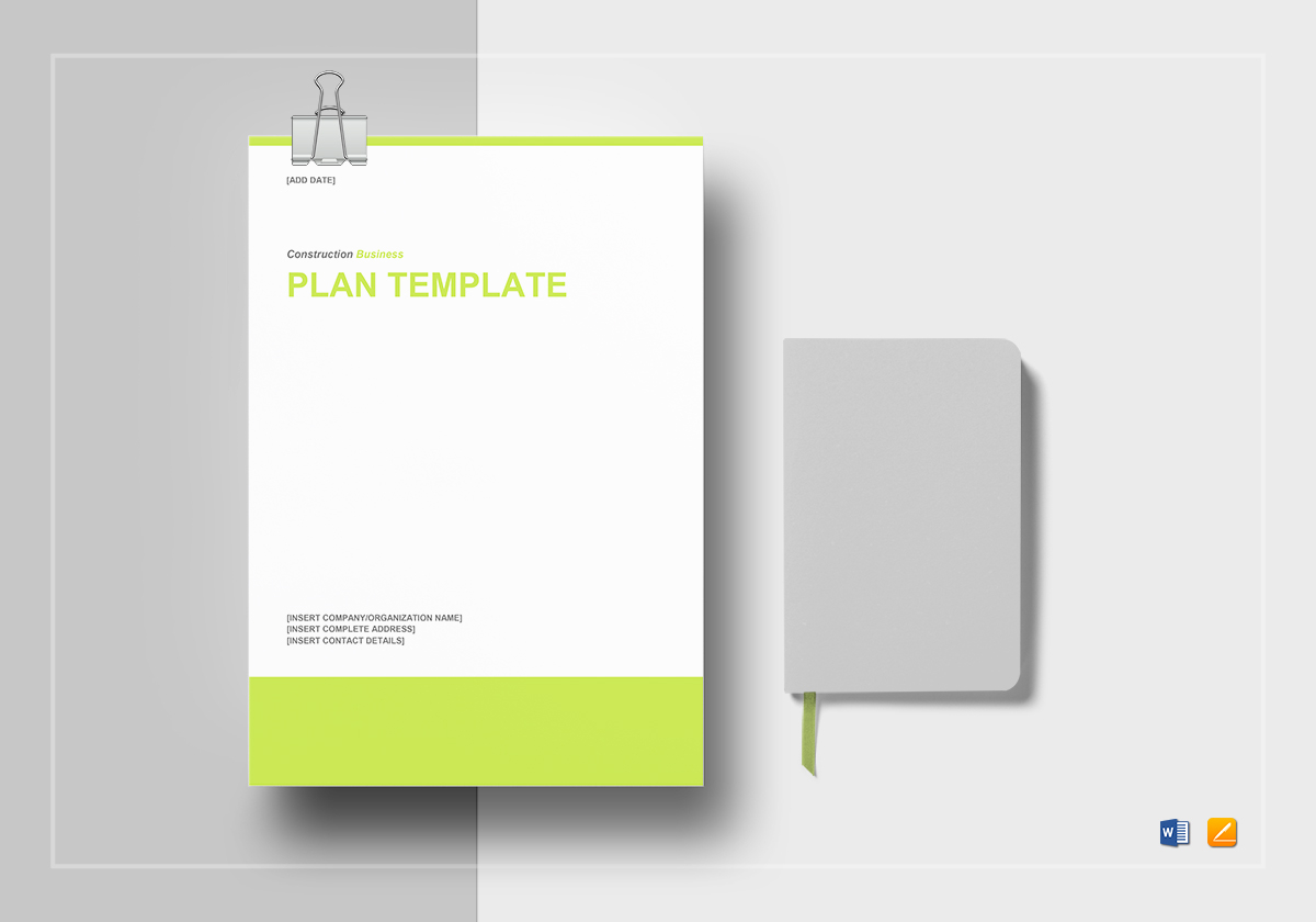 Construction business plan template in word google docs apple pages construction business plan template friedricerecipe Choice Image