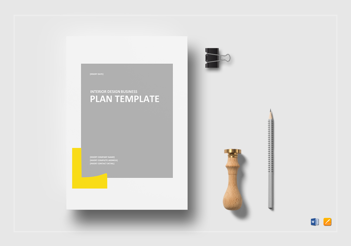 interior design business plan template in word google docs apple pages. interior design business plan template