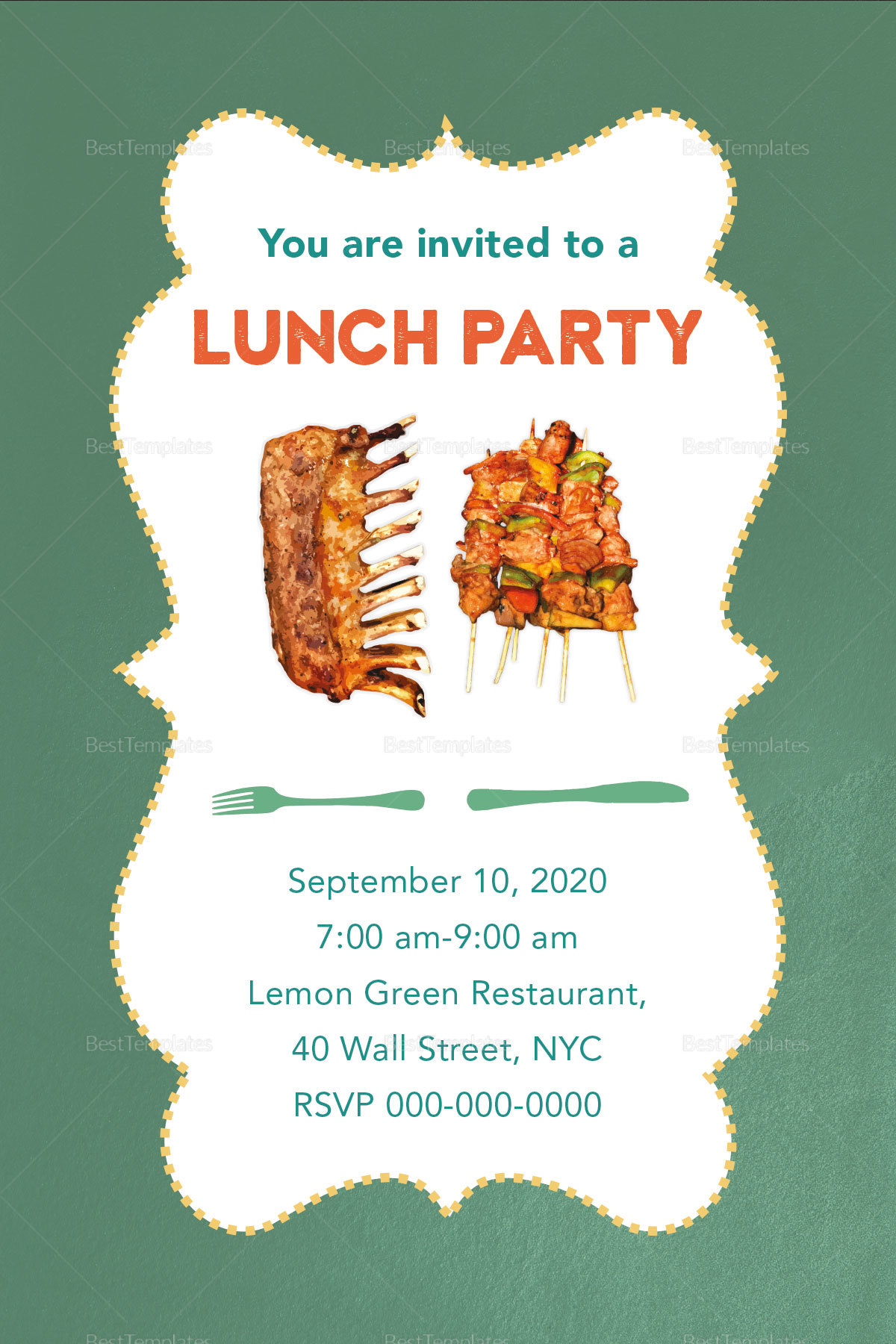 Lunch Party Invitation