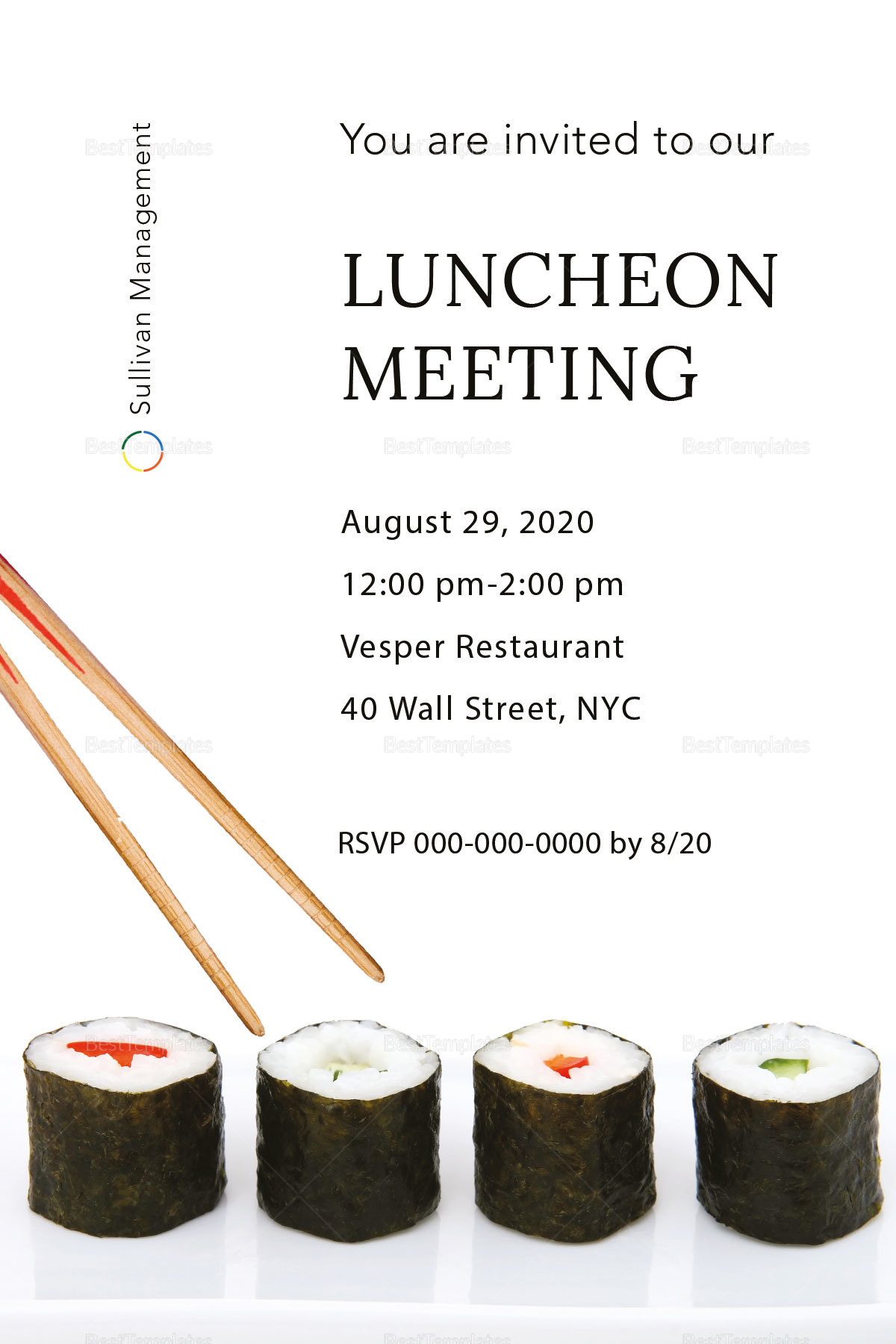 Luncheon Meeting Invitation