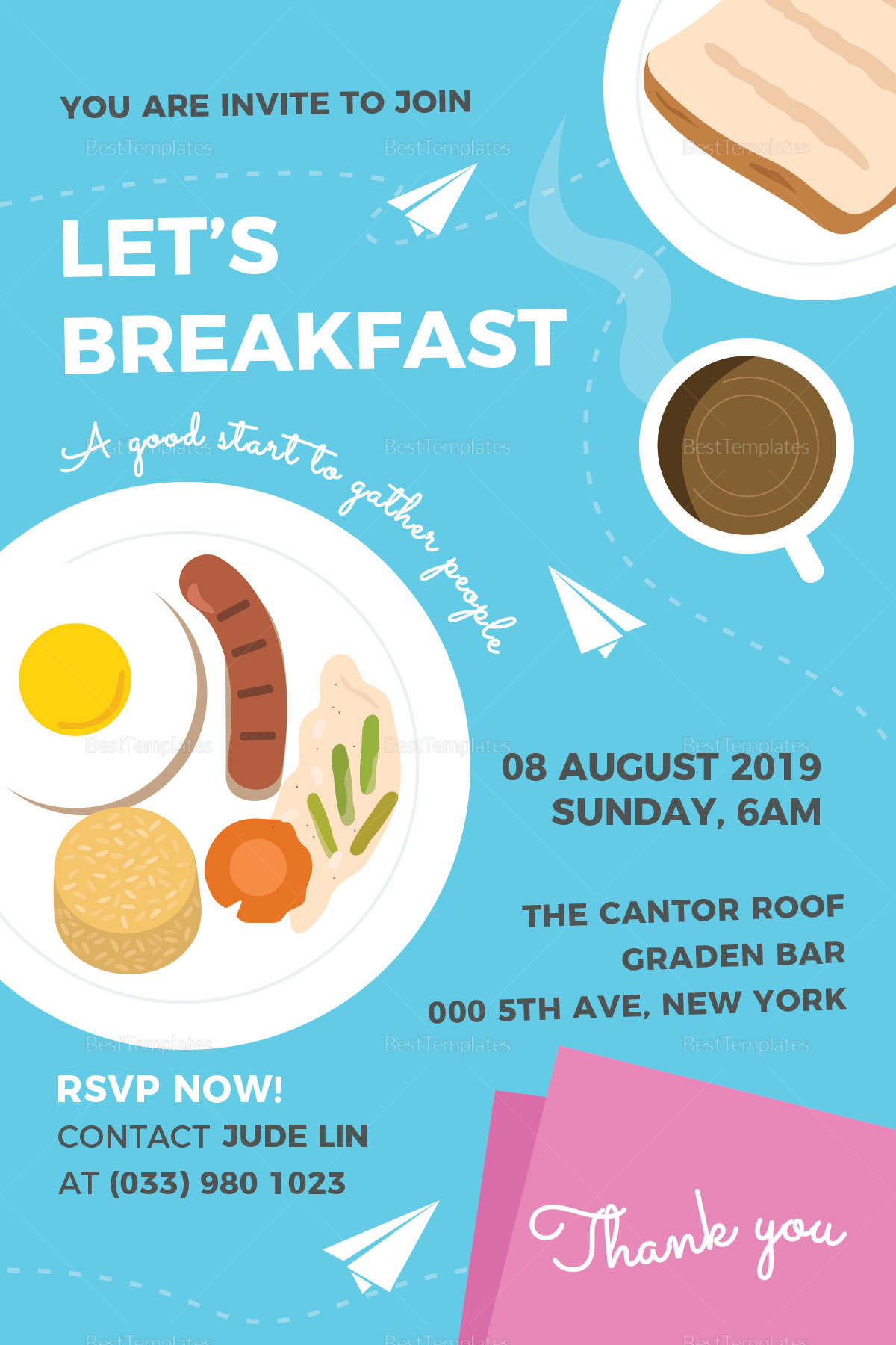 Sample Breakfast Invitation