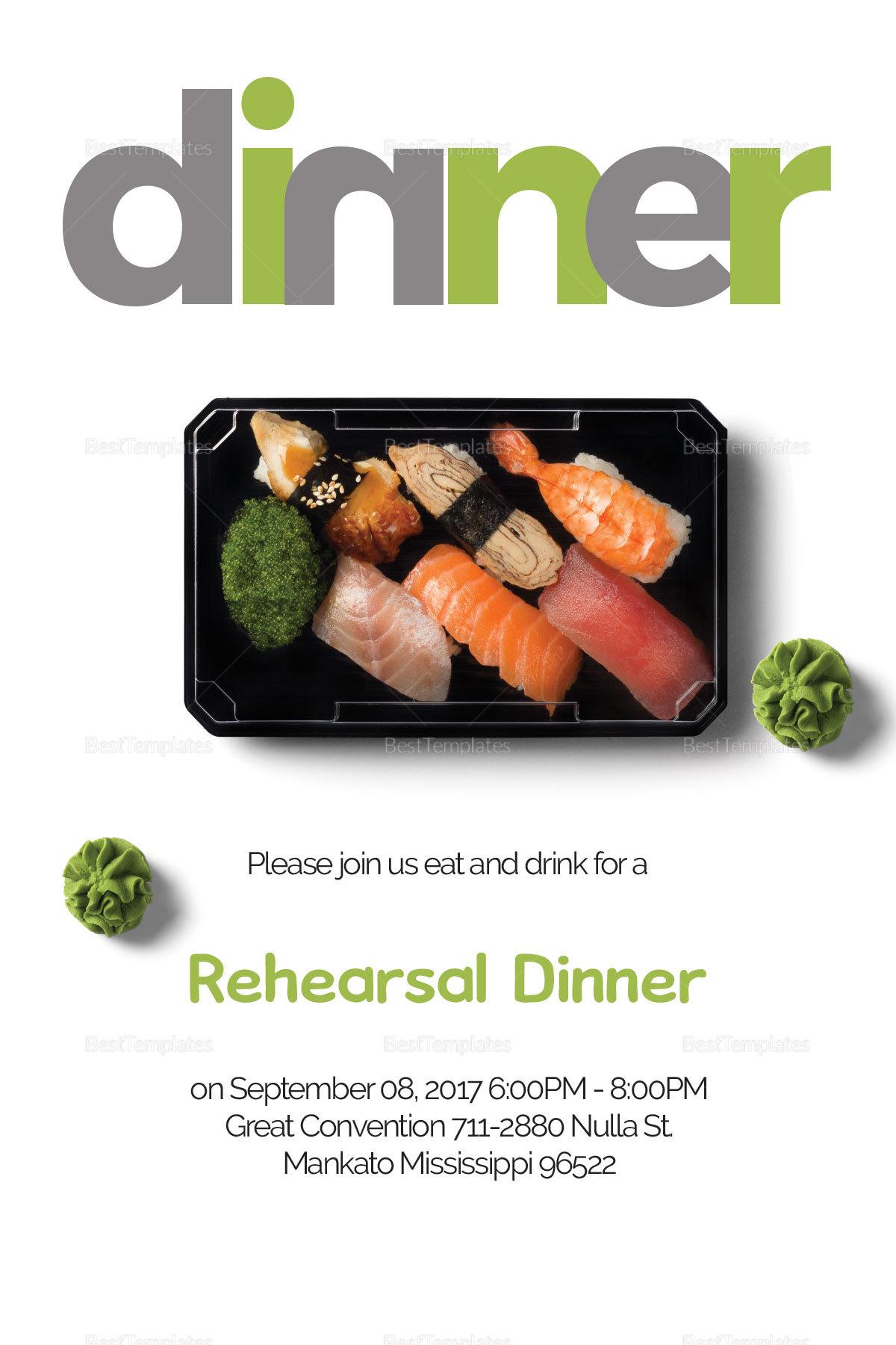 Sample Dinner Invitation