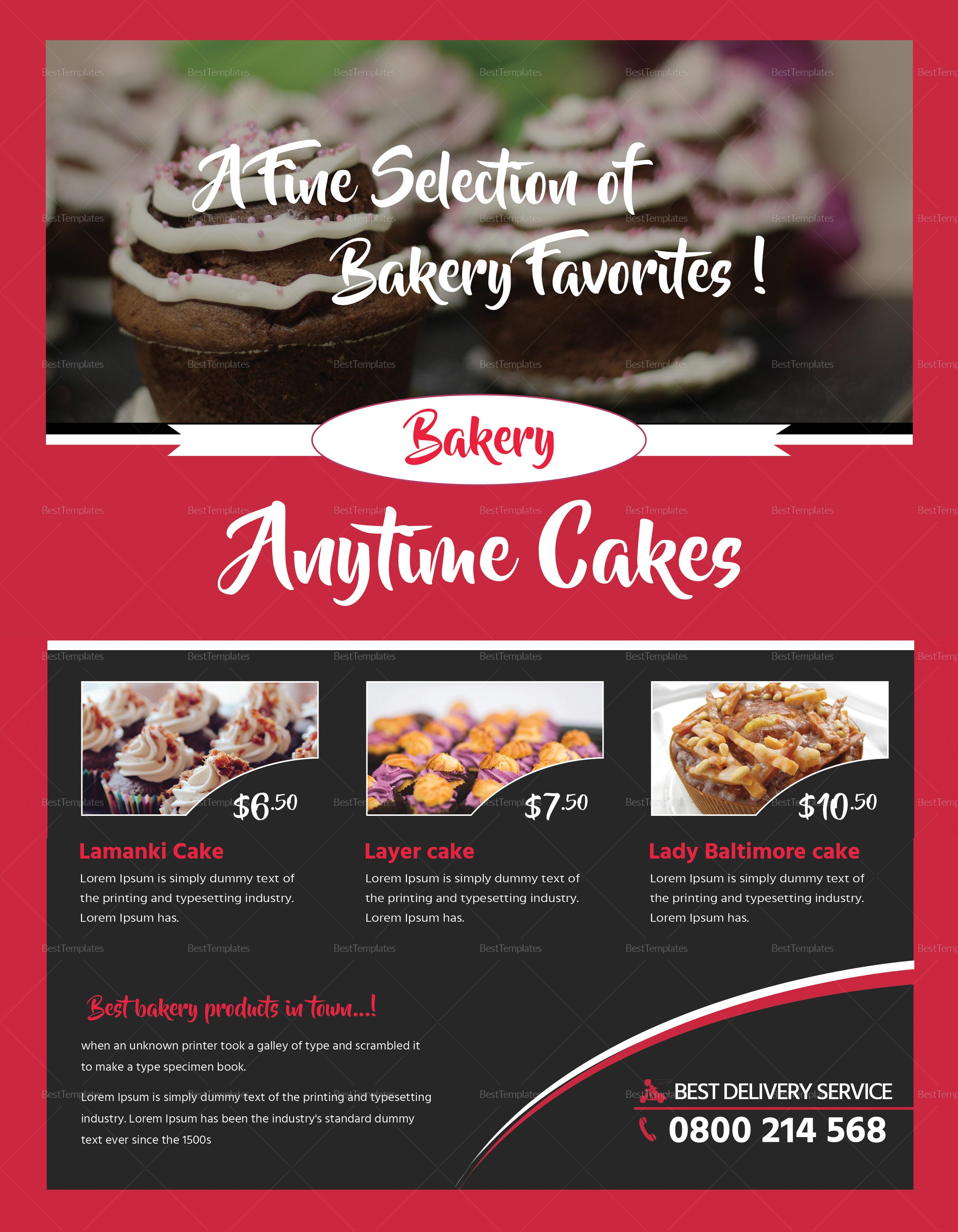 Customizable Bake Sale Flyer