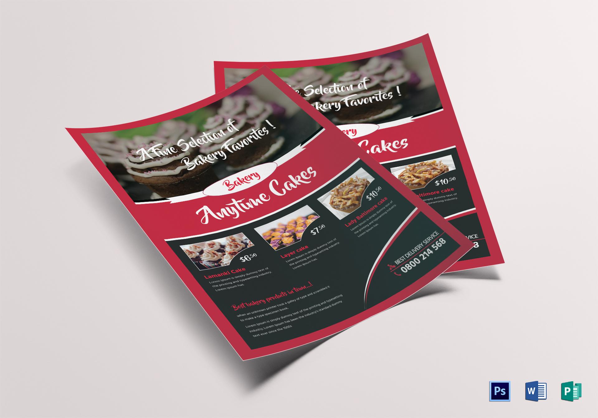 Customizable Bake Sale Flyer Template