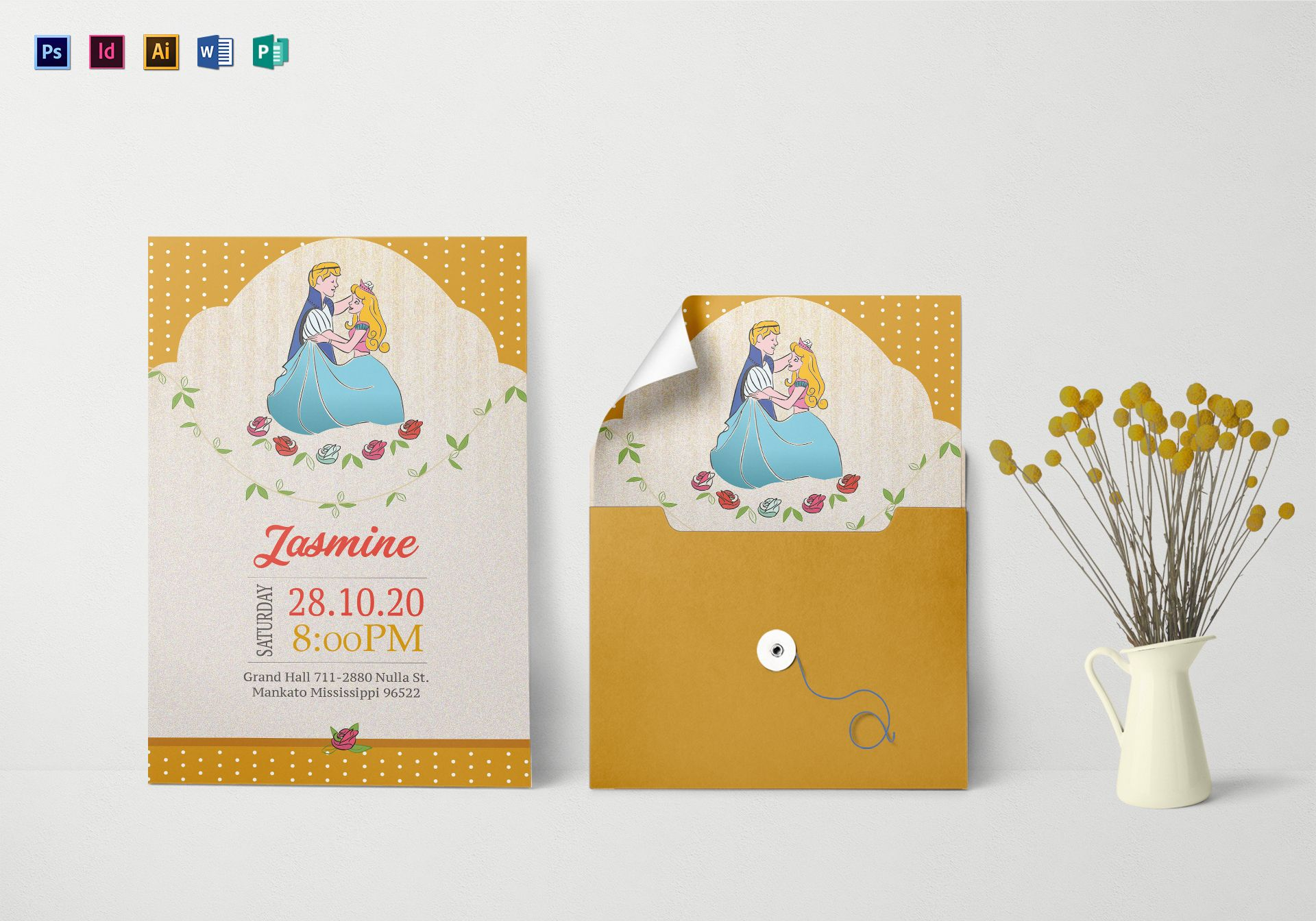 Little Princess Birthday Invitation Template
