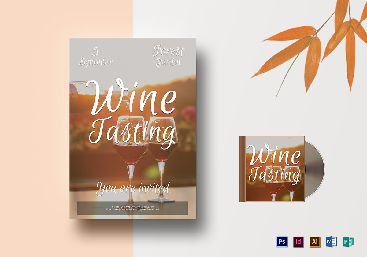 Wine Tasting Flyer Template