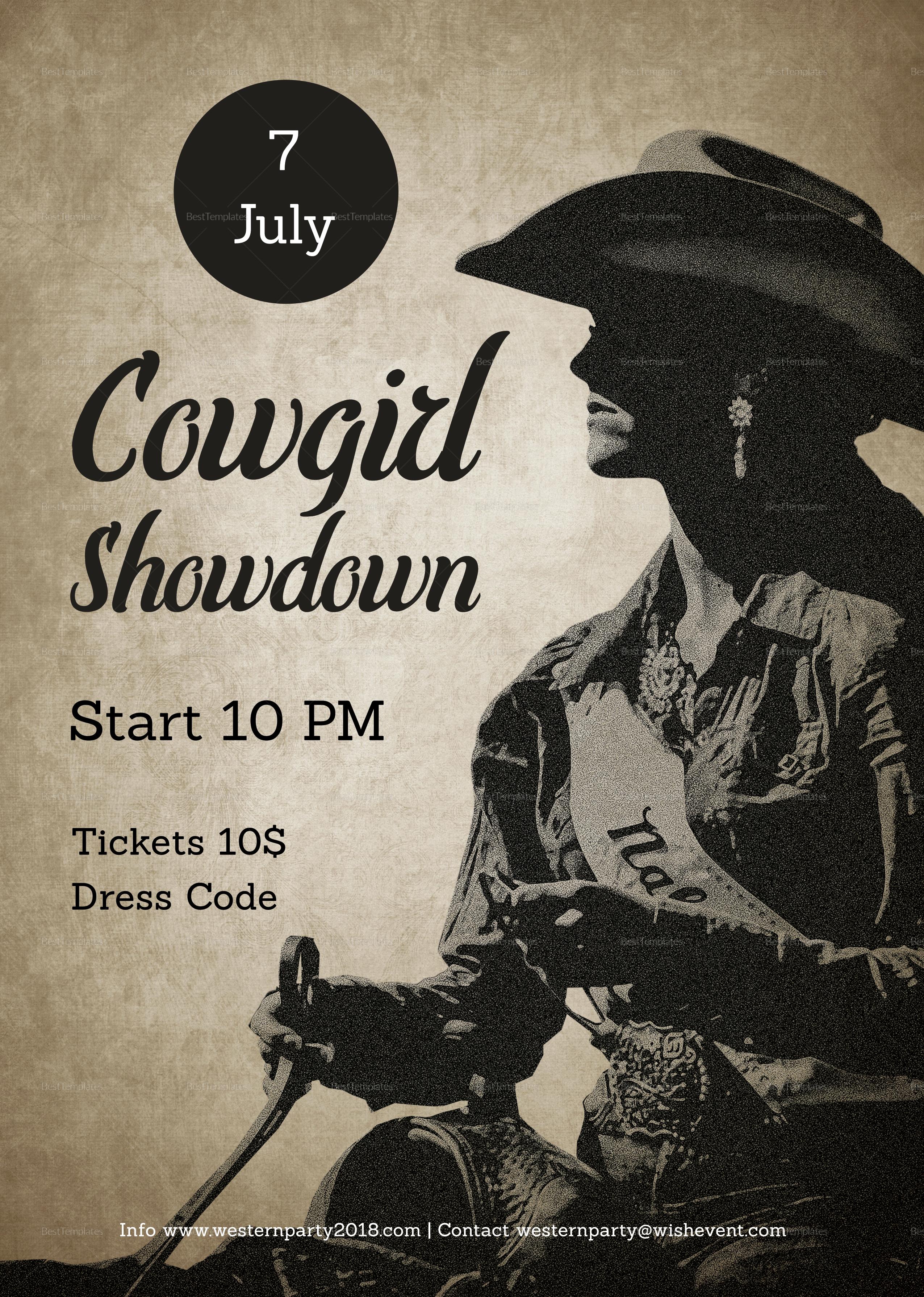 Cowgirl Showdown Flyer