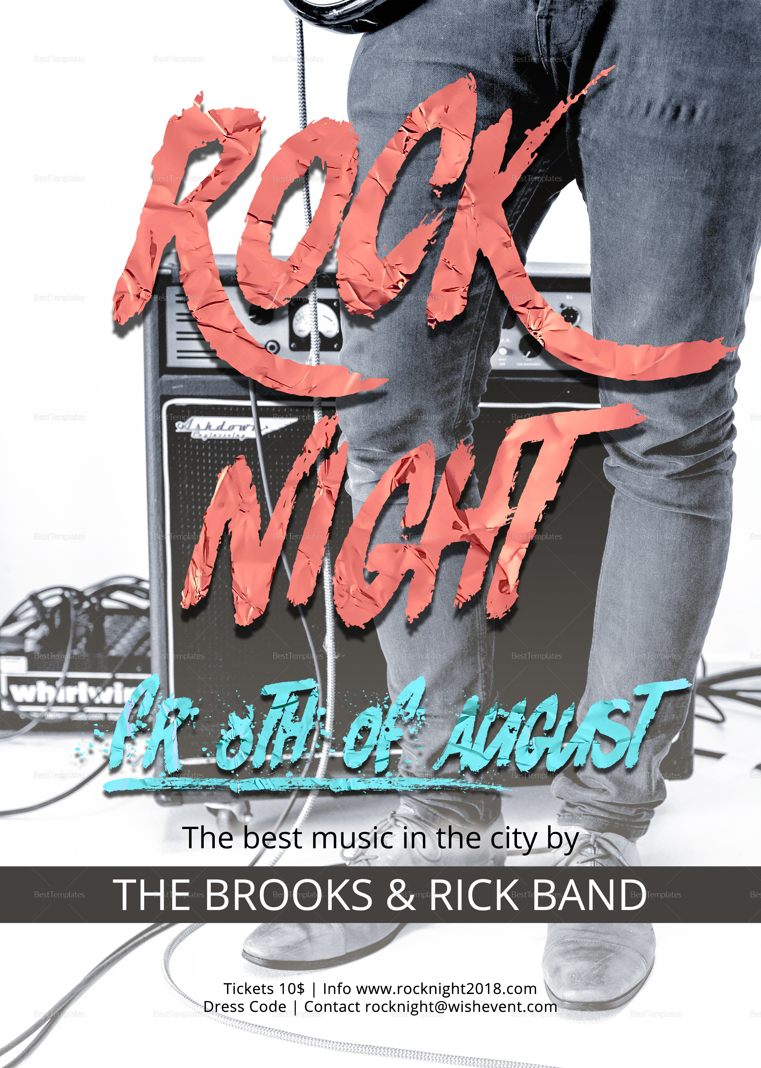 Rock Night Typography Flyer