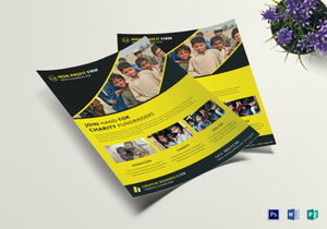 fundraising flyer designs templates in word psd publisher
