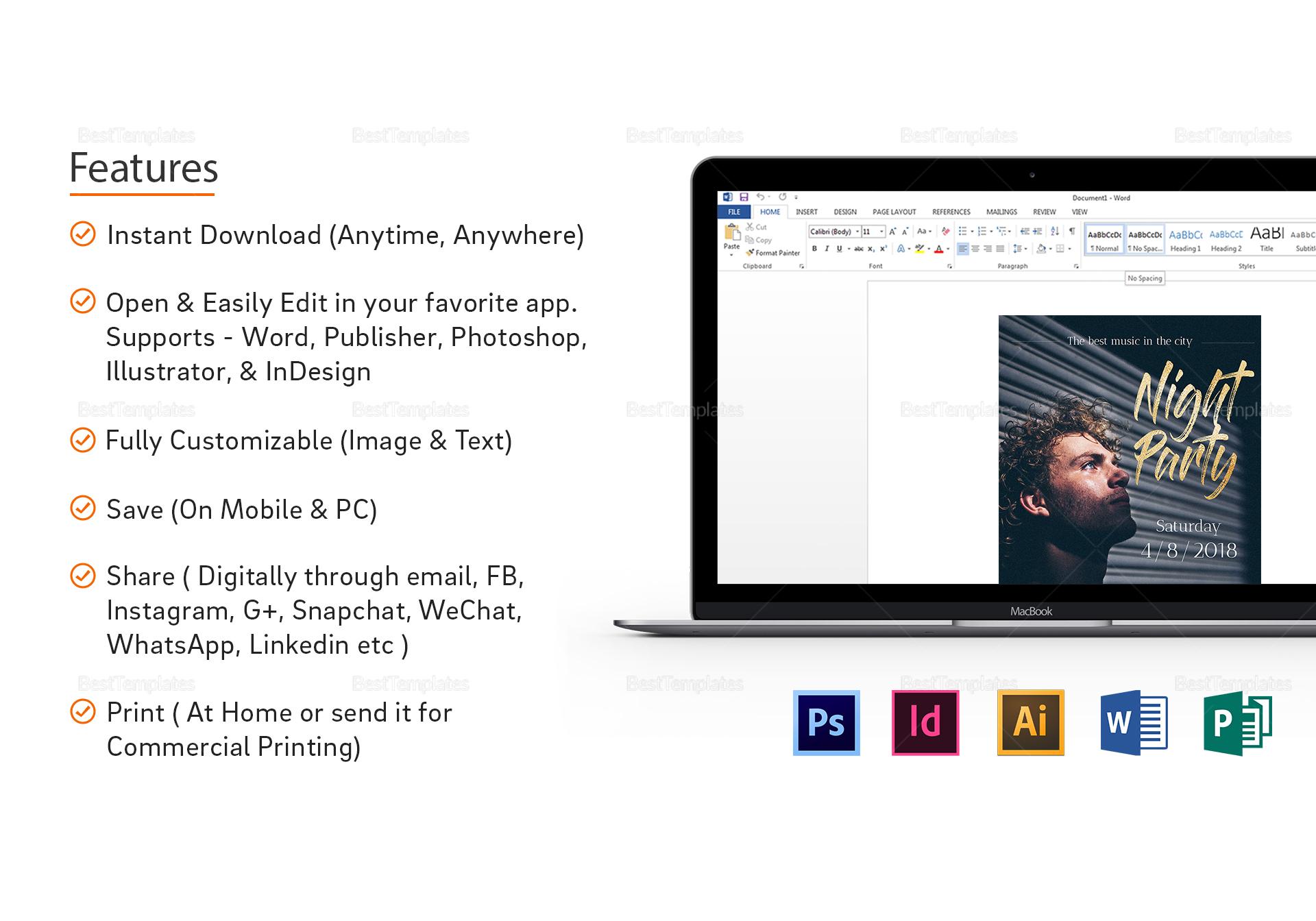 Dj Geek Flyer Template to Print
