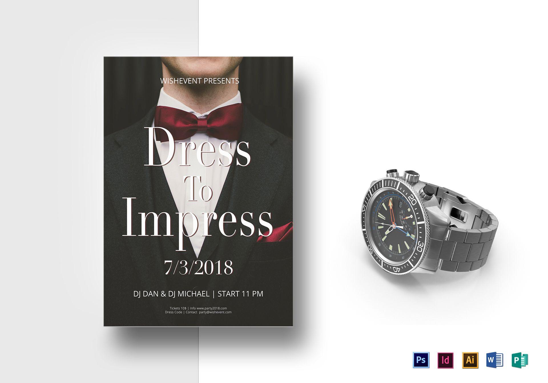 Dress To Impress Flyer Template