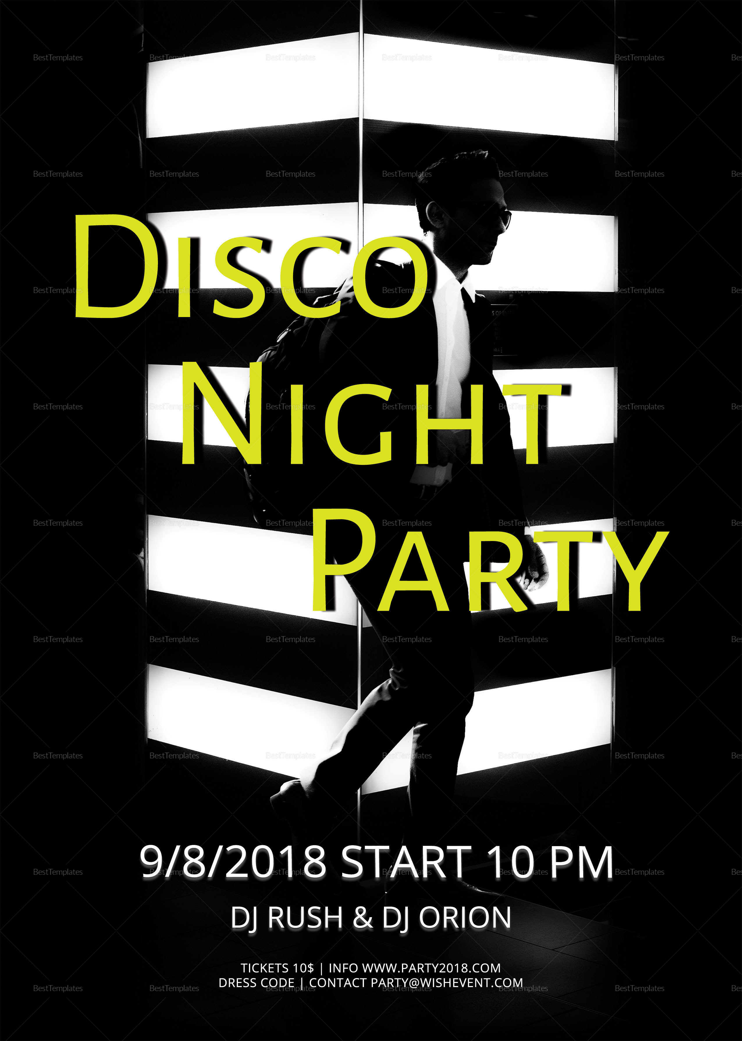 Sample Minimalistic Party Flyer Template