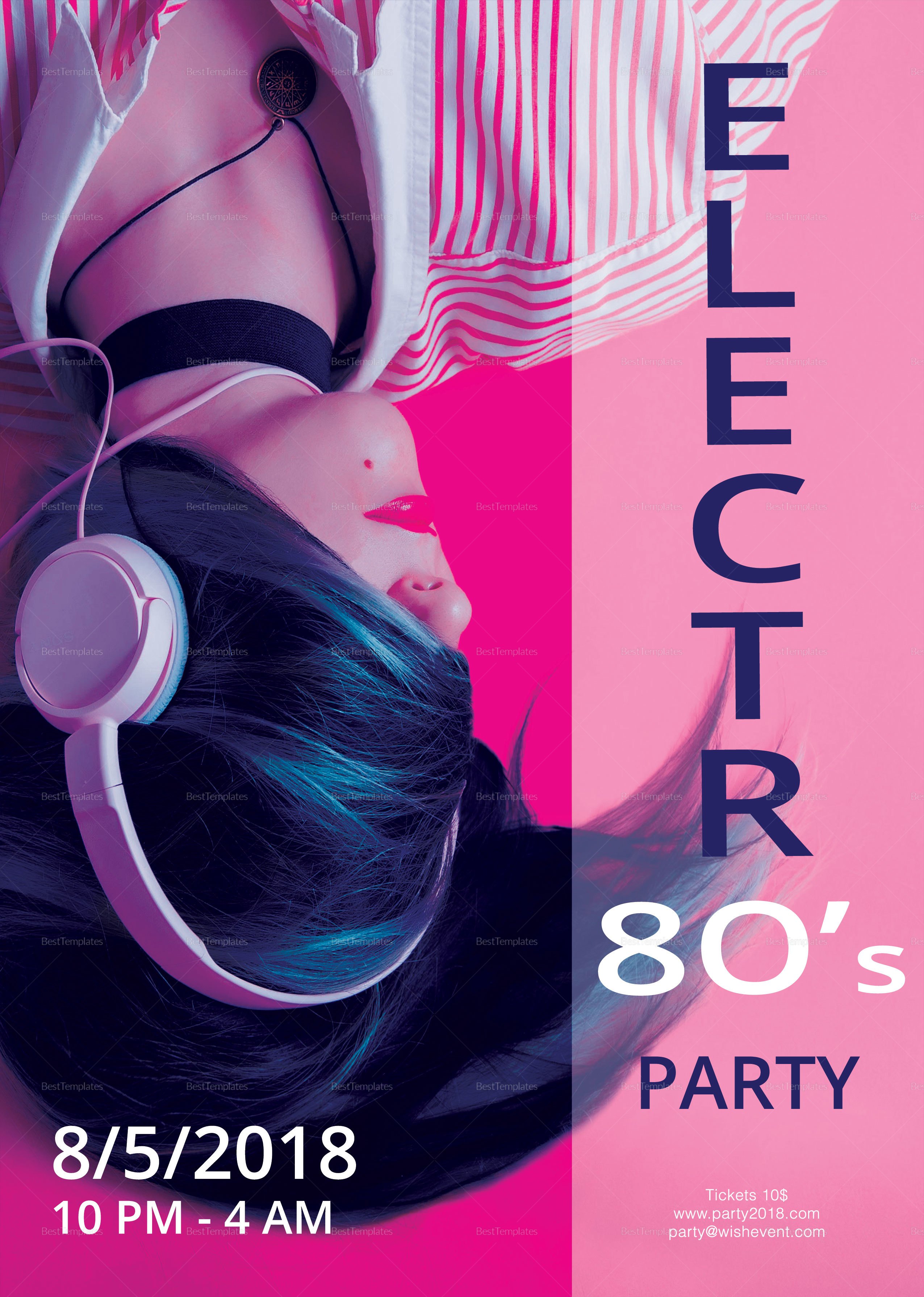 80s Electro Party Flyer Template