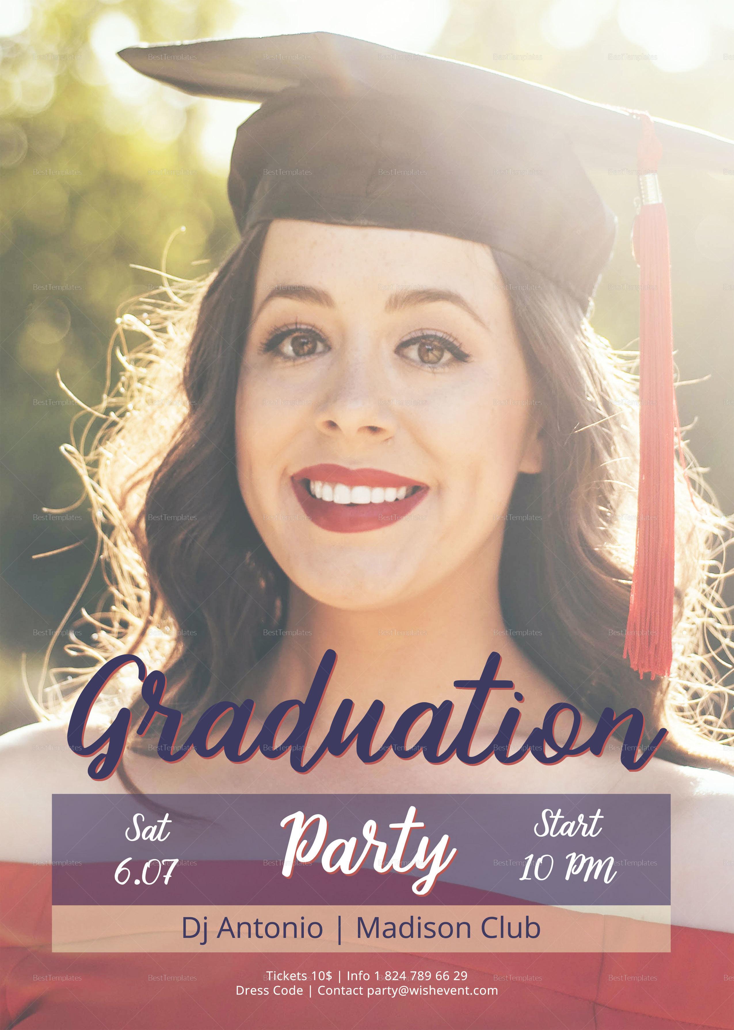 Graduation Night Party Flyer