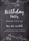 Sample Chalkboard style Birthday Party Flyer Template