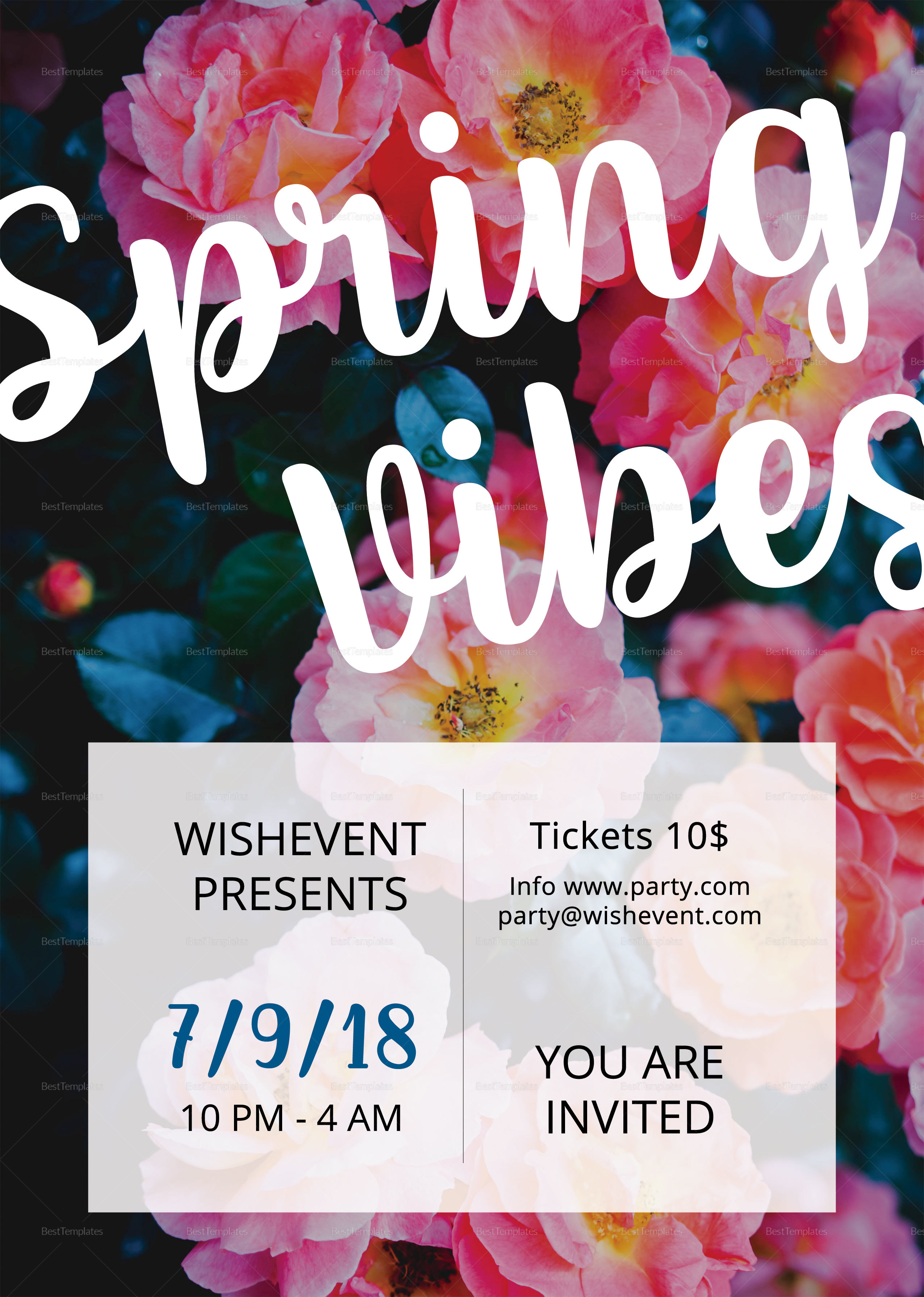 Simple Spring Vibes Flyer