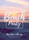 Sample Summer Beach Party Flyer Template