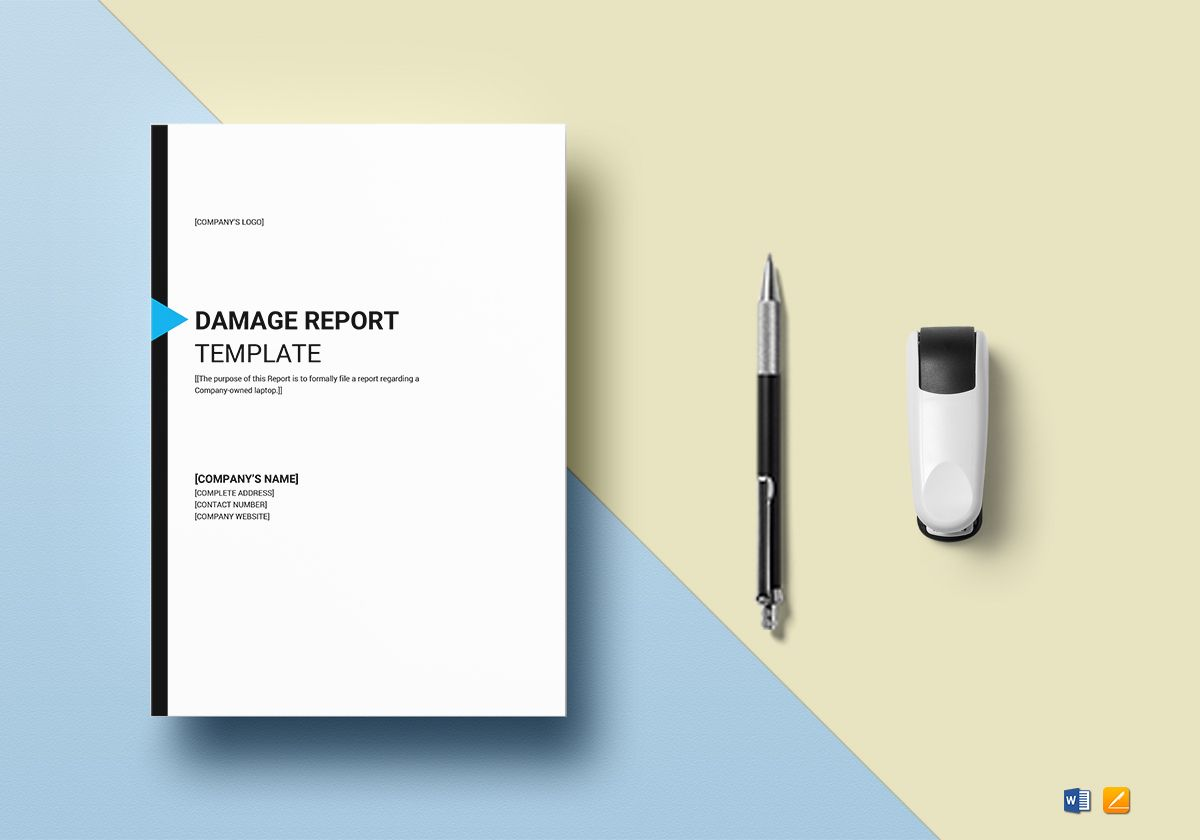 Damage Report Template