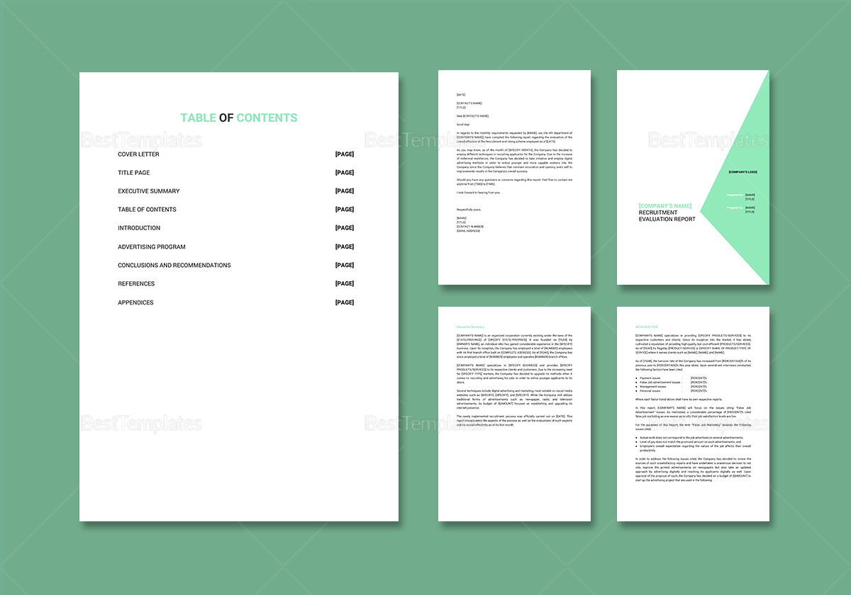 Sample HR Report Template