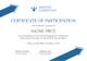Arrow Corporate Participation Certificate