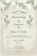 Vintage Engagement Announcement Card Template