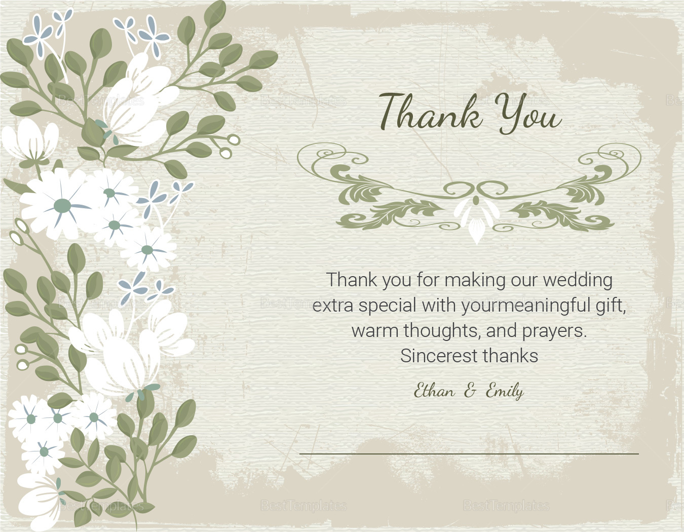 Vintage Thank You Card Template to Edit