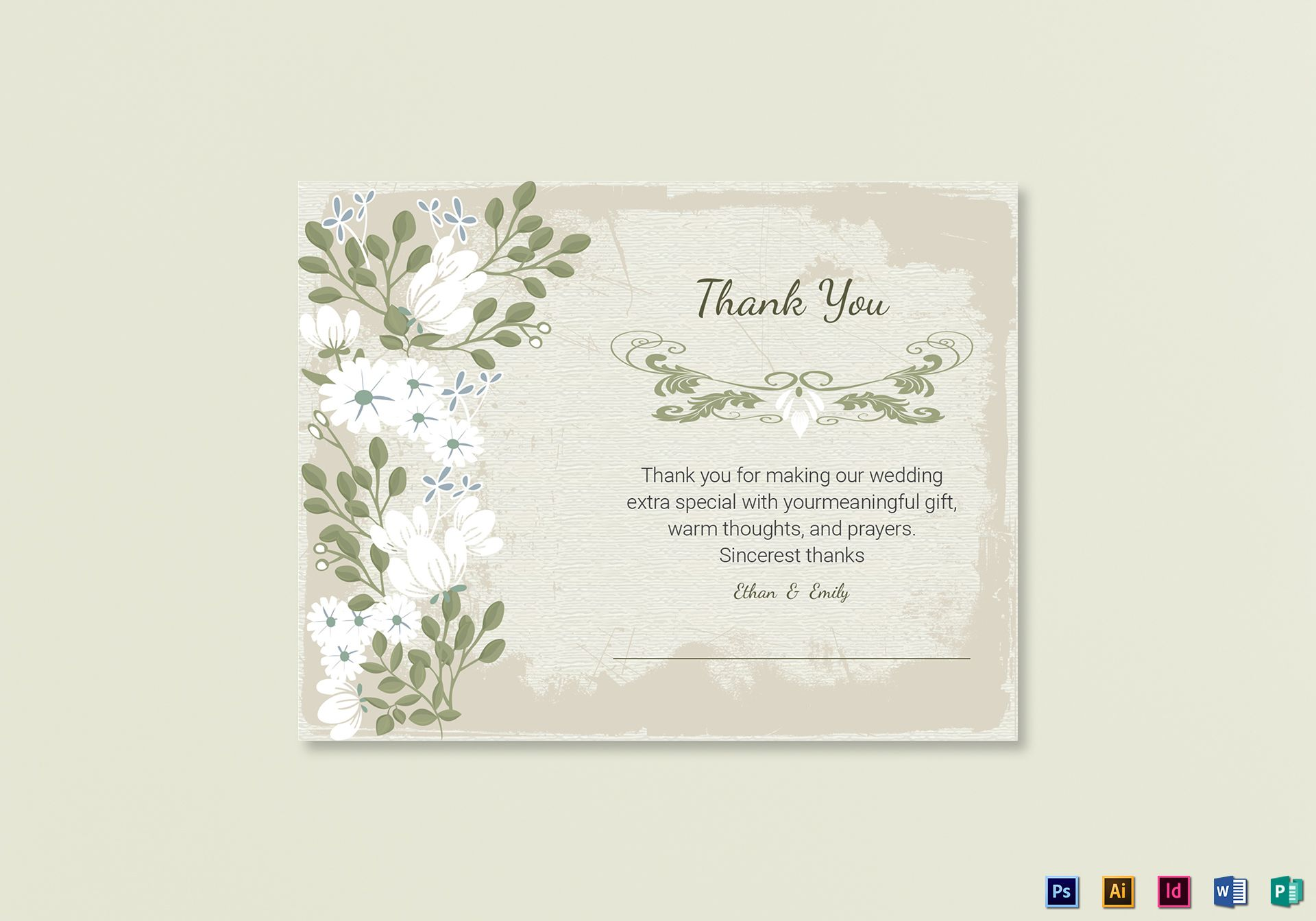 Vintage Thank You Card Template