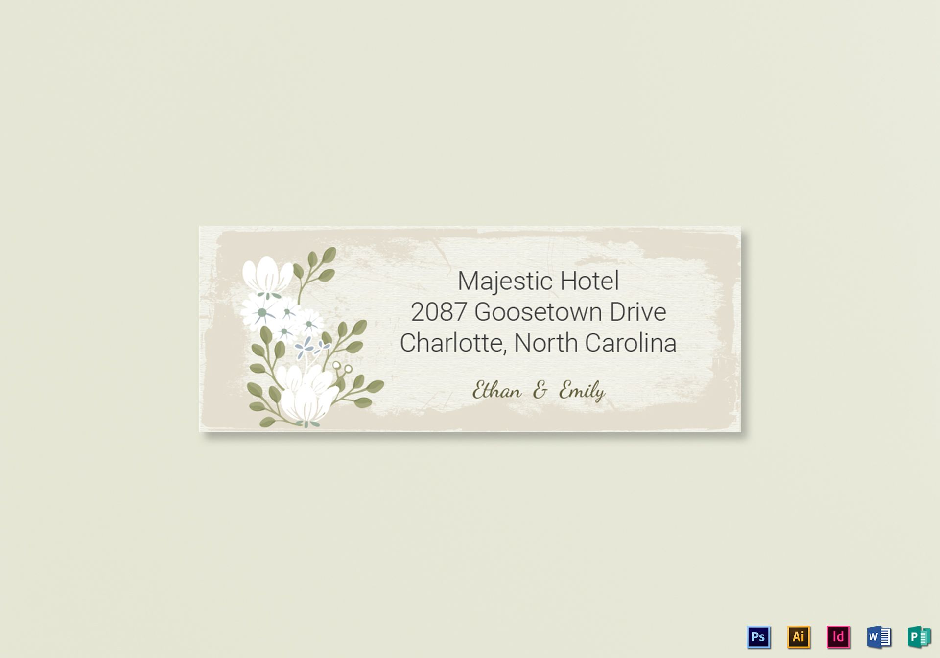 vintage wedding address labels card template in psd word publisher