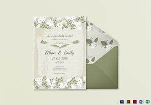 Wedding invitation designs templates in word psd publisher vintage wedding invitation card template stopboris
