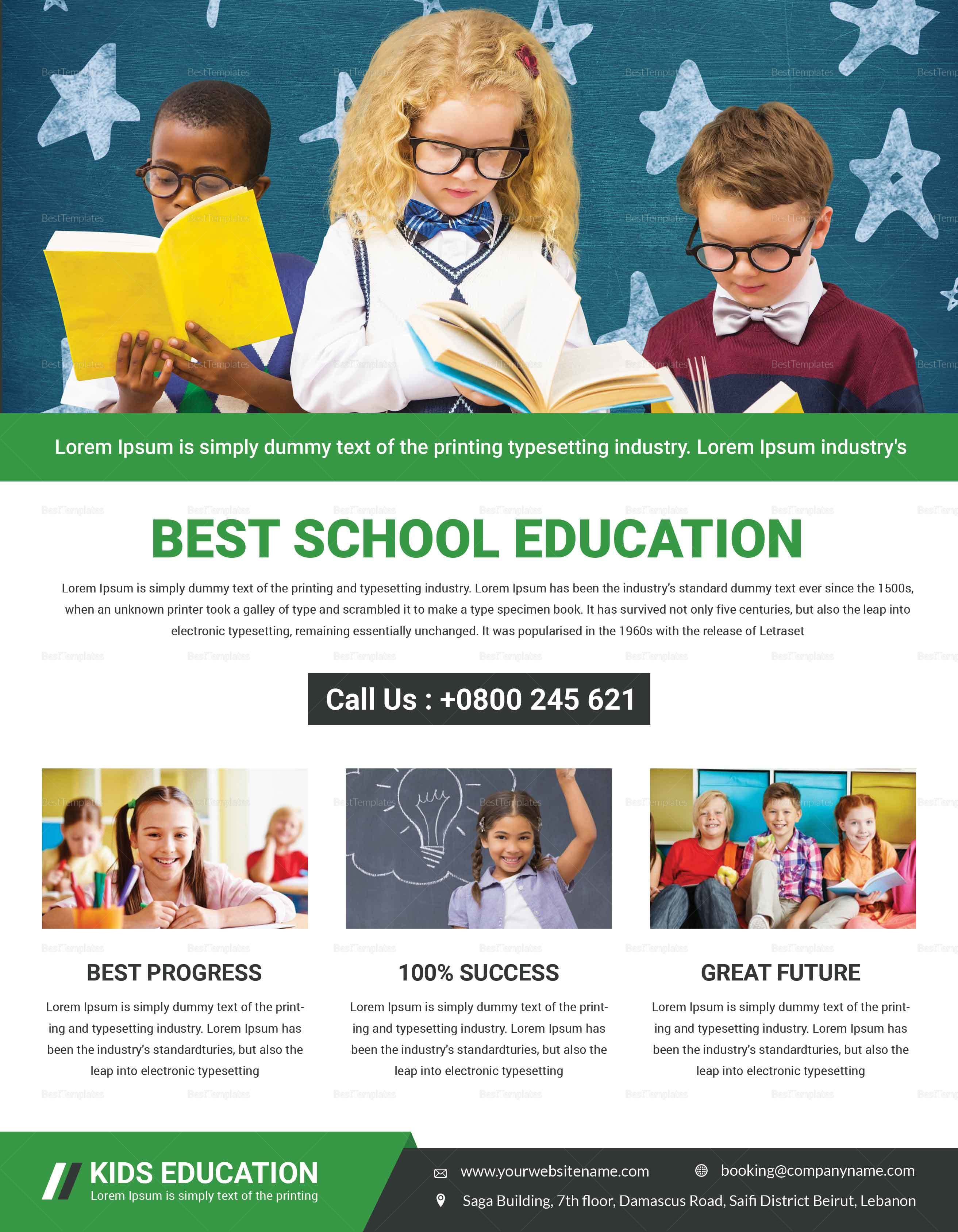 Sample Talent Education Flyer Template