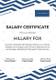 Simple Salary Certificate Template