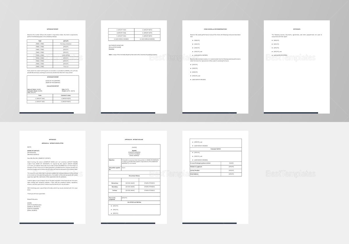 Simple Internship Report Template