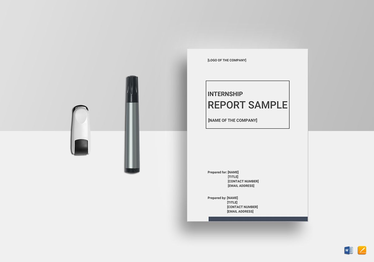 Internship Report Template in Word, Google Docs, Apple Pages