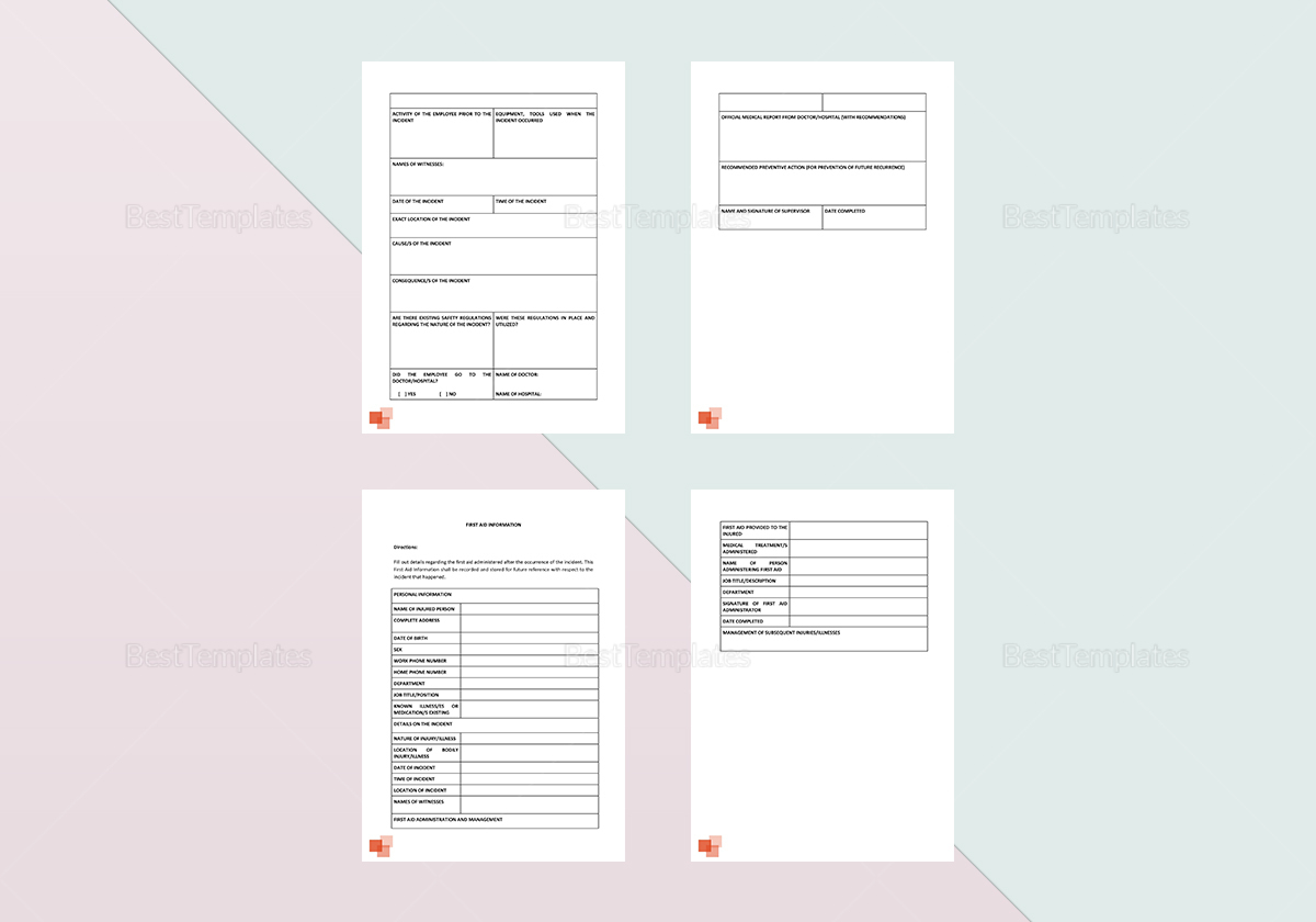 General Incident Report Template to Edit