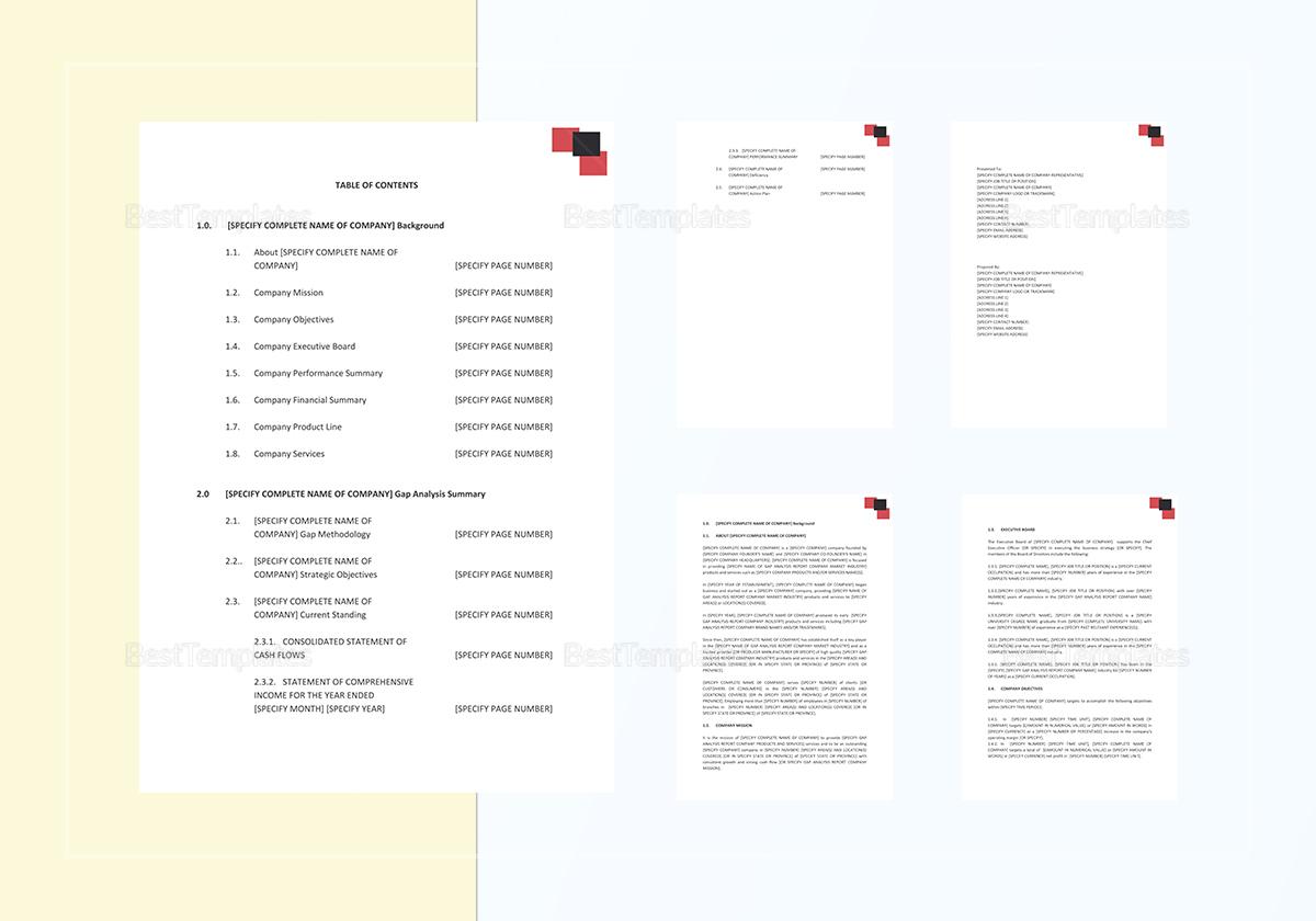 Sample Gap Analysis Report