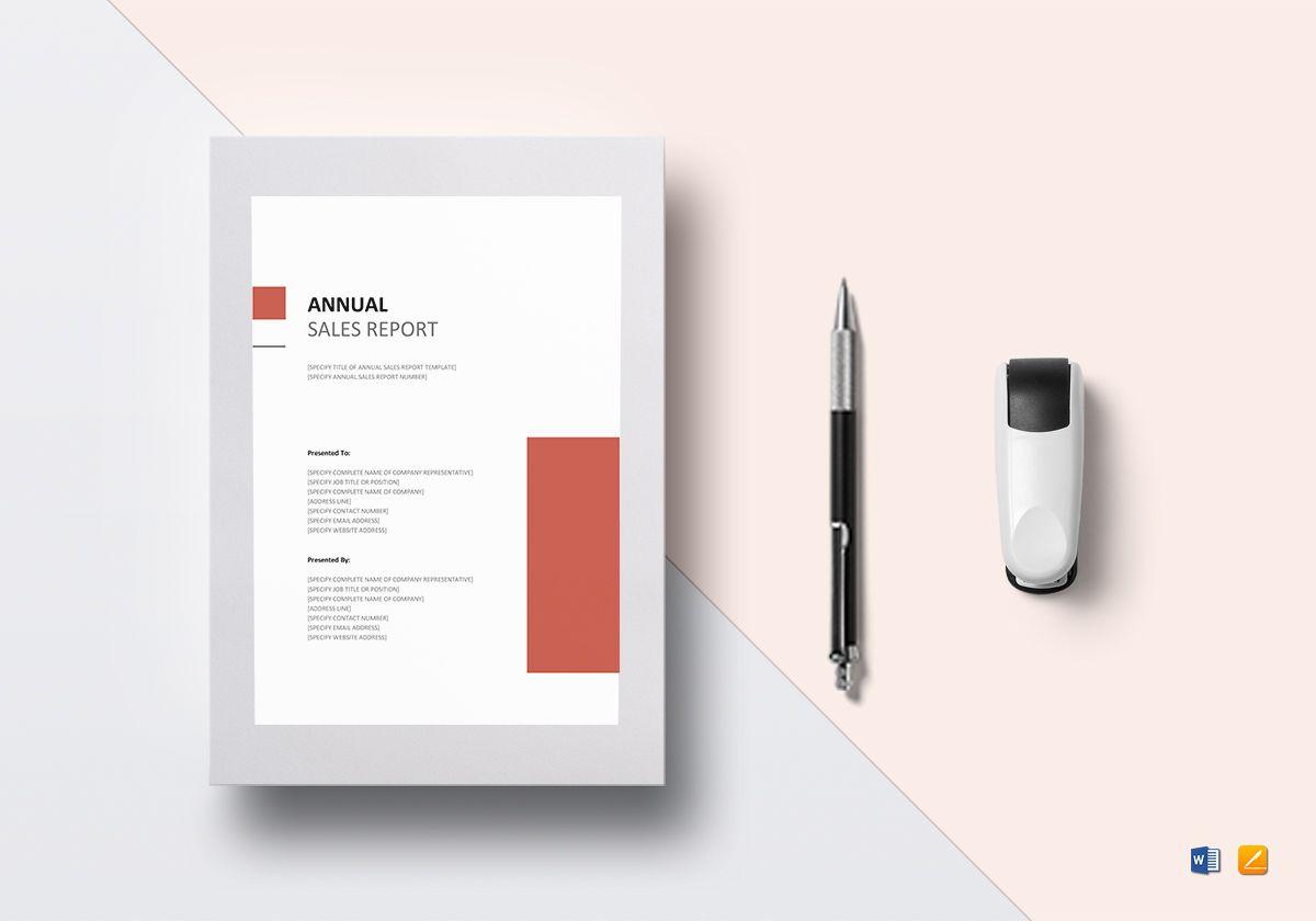 Annual Sales Report Sample Template