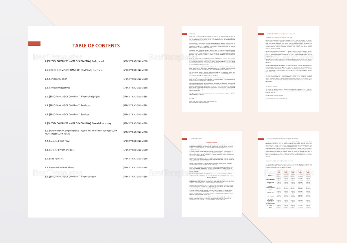 annual sales report template in word  google docs  apple pages