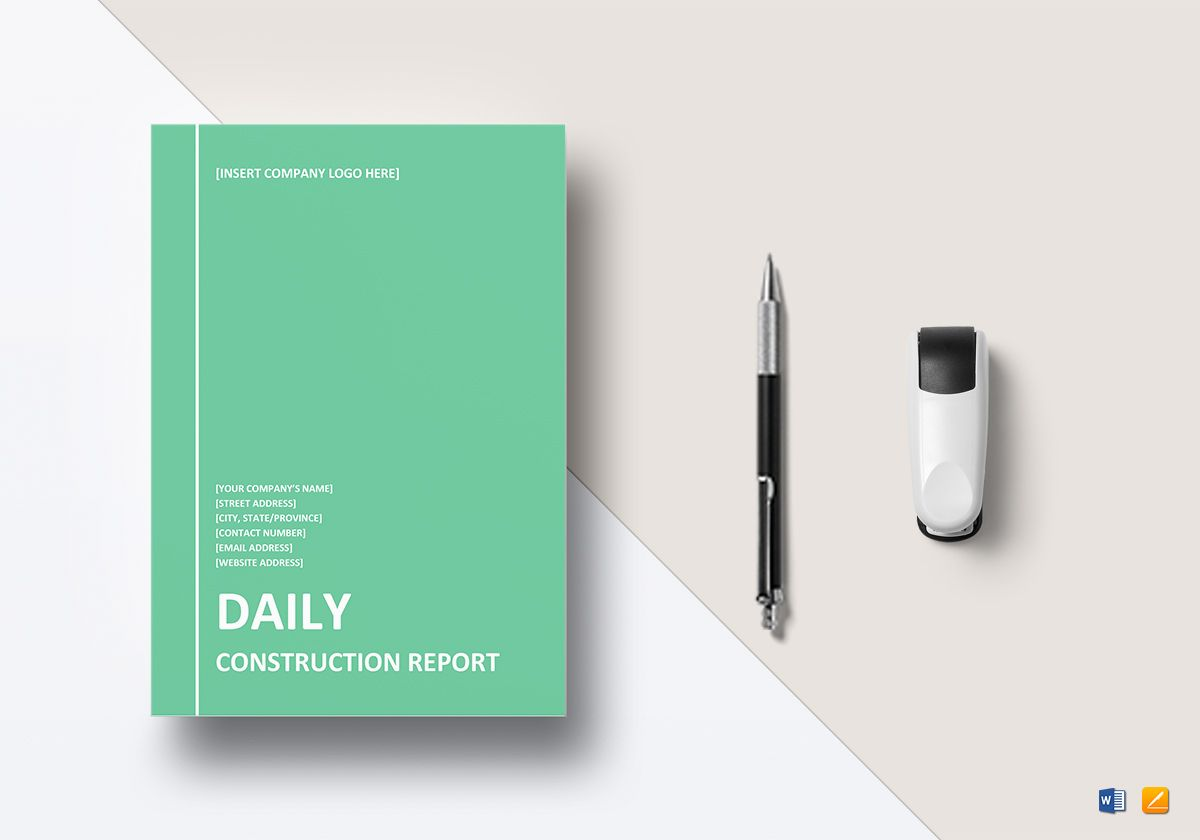 Daily Construction Report Template